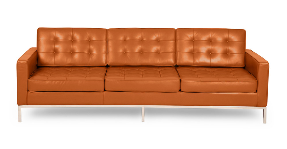 Florence Sofa, Caramel Premium Leather