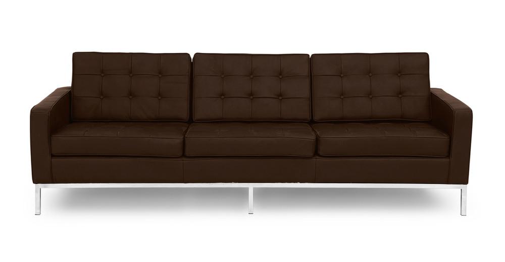 Florence Sofa, Espresso Leather