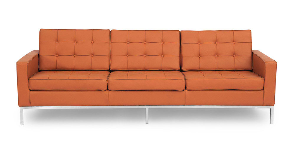 Florence Sofa, Luxe Camel Leather