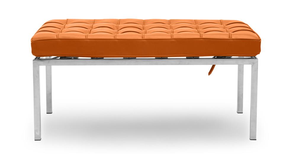 Florence Bench 2 Seat, Caramel Premium Leather