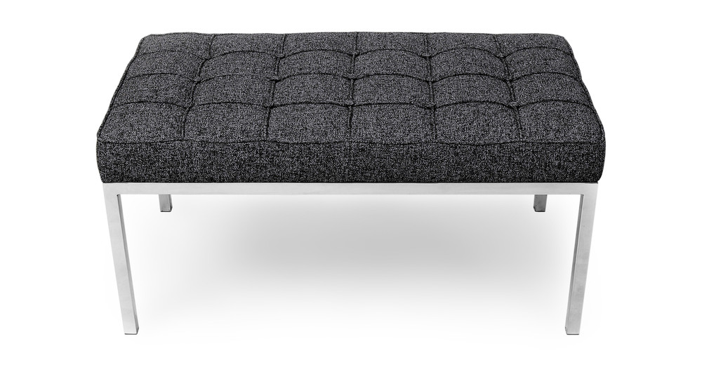 Florence Bench 2 Seat, Carbonite