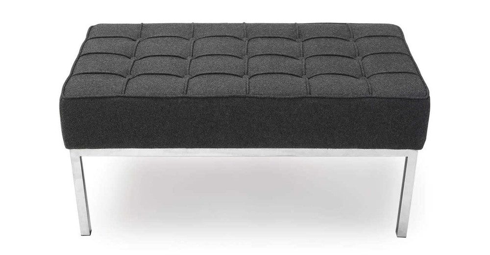 Florence Bench 2 Seat, Charcoal