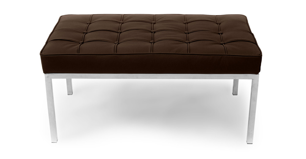 Florence Bench 2 Seat, Espresso Leather