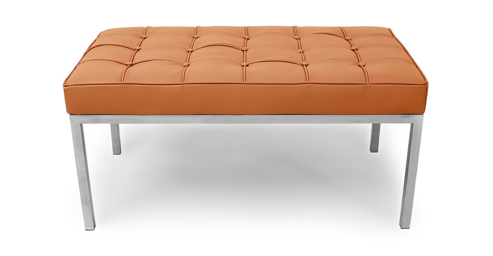 Florence Bench 2 Seat, Luxe Camel Leather