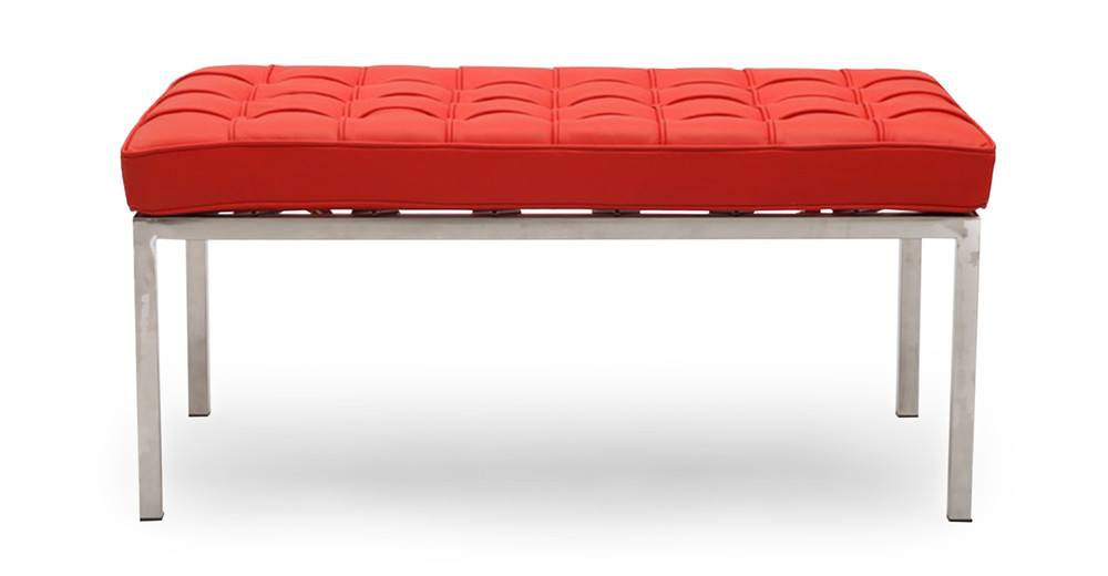 Florence Bench 2 Seat, Red Premium Leather