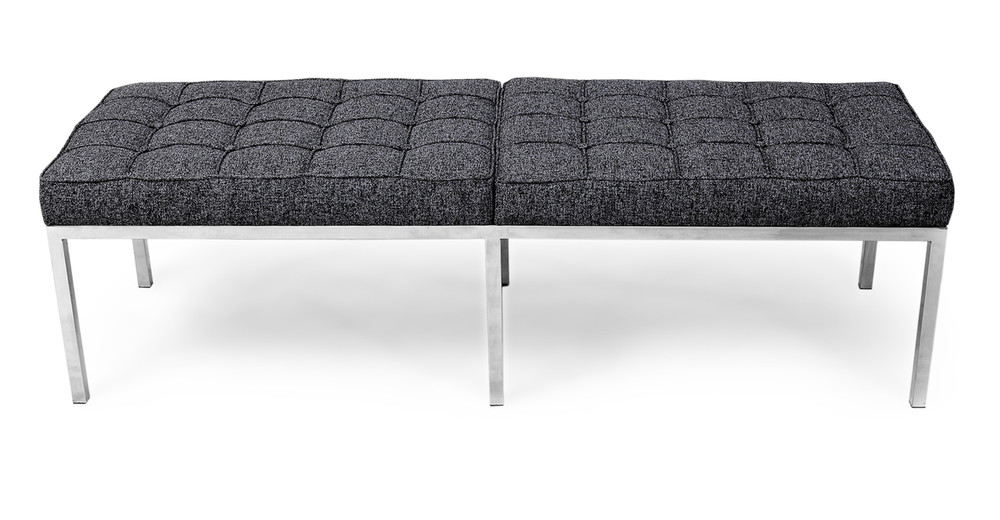 Florence Bench 3 Seat, Carbonite