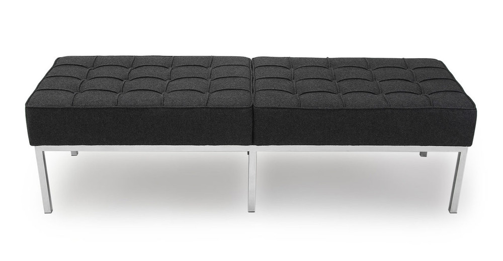 Florence Bench 3 Seat, Charcoal