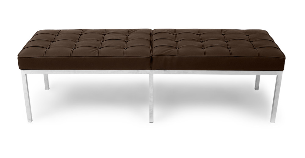 Florence Bench 3 Seat, Espresso Leather
