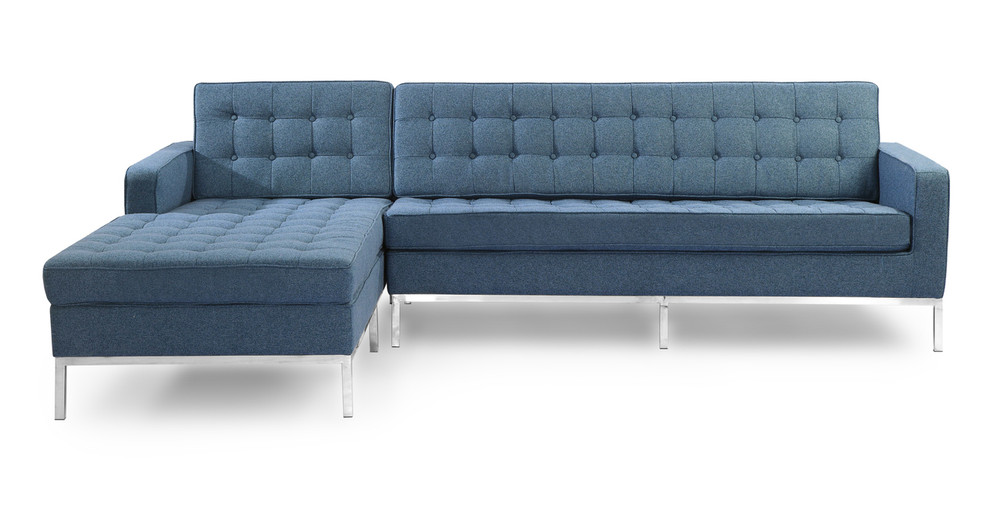 Florence Left Sectional, Azure