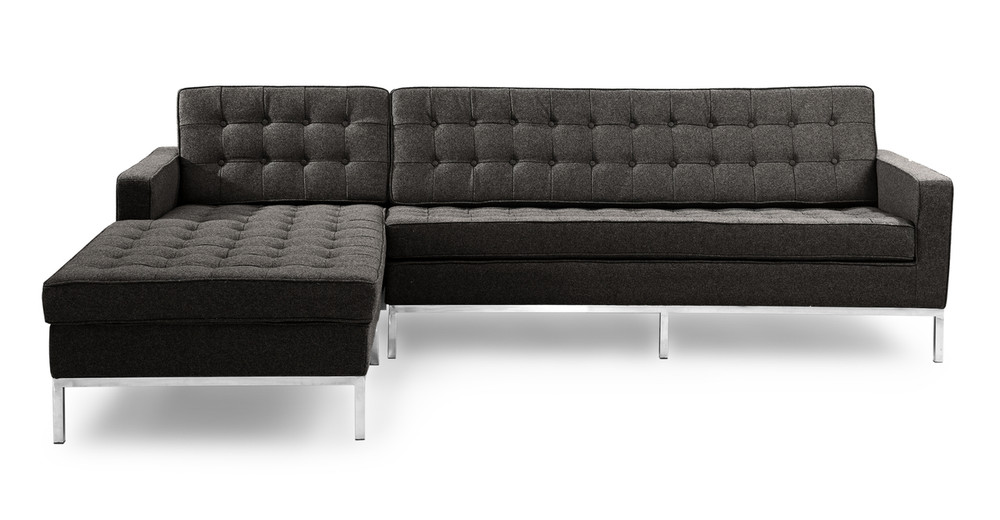 Florence Left Sectional, Charcoal
