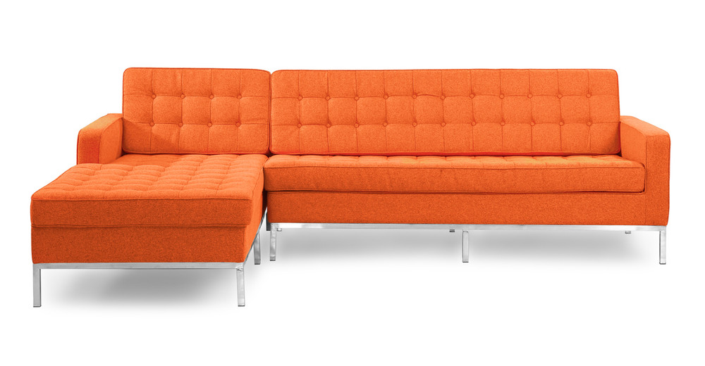 Florence Left Sectional, Cinnabar
