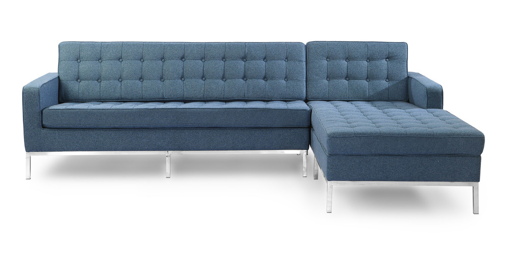 Florence Right Sectional, Azure