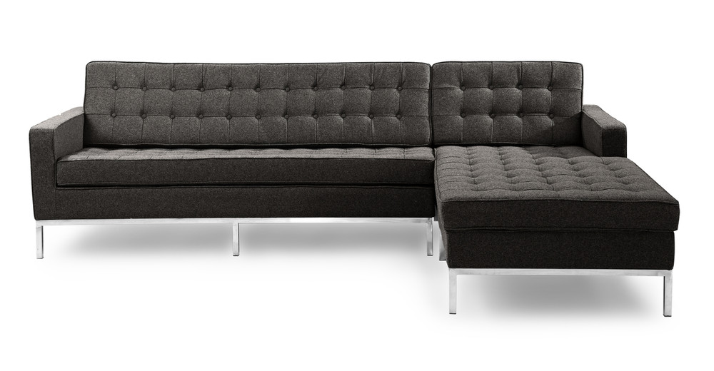 Florence Right Sectional, Charcoal