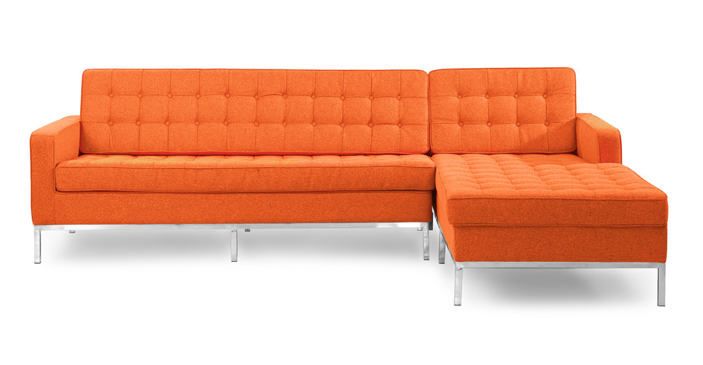 Florence Right Sectional, Cinnabar
