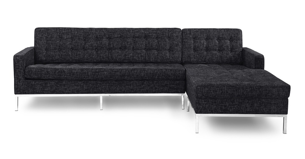 Florence Right Sectional, Graphite