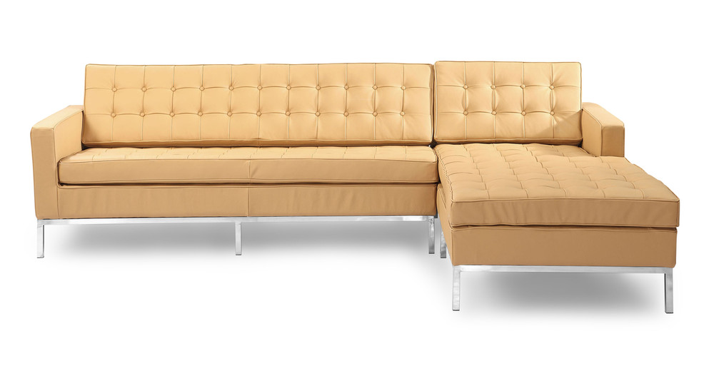 Florence Right Sectional, Oxford Fawn Leather