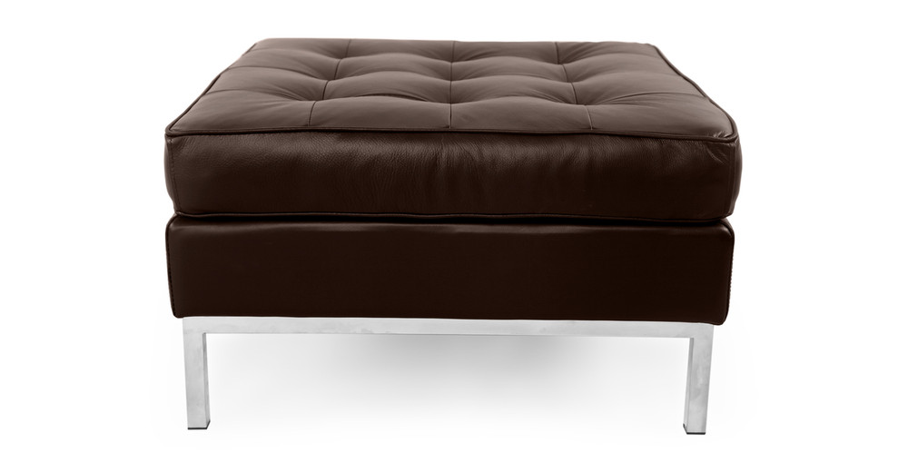 Florence Ottoman, Choco Brown Premium Leather