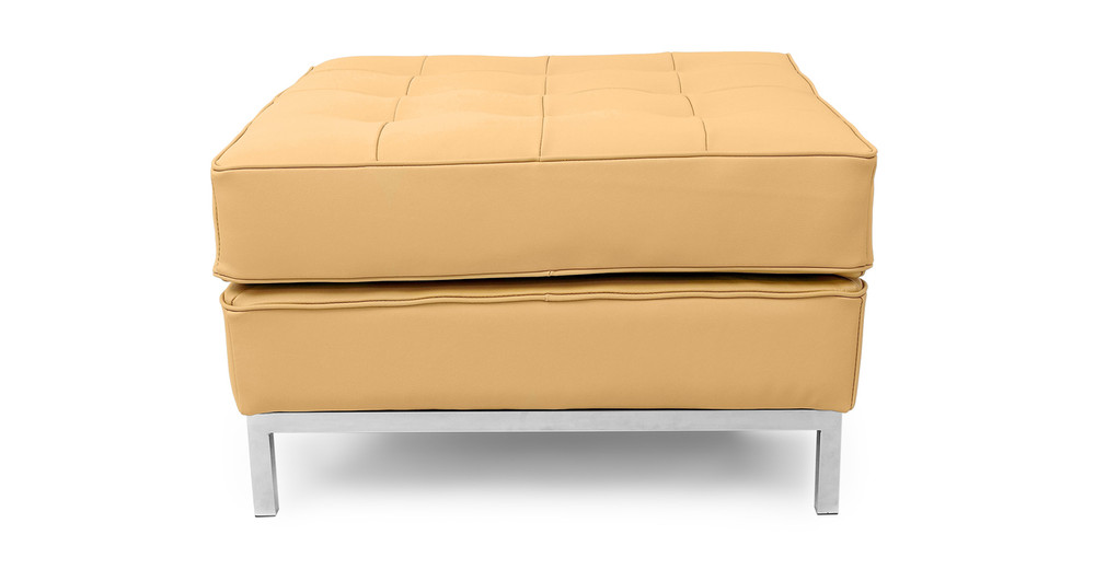 Florence Ottoman, Oxford Fawn Leather