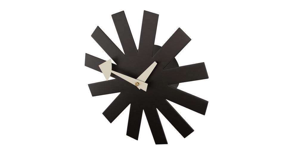 ... George Nelson Asterisk Clock, Black ...