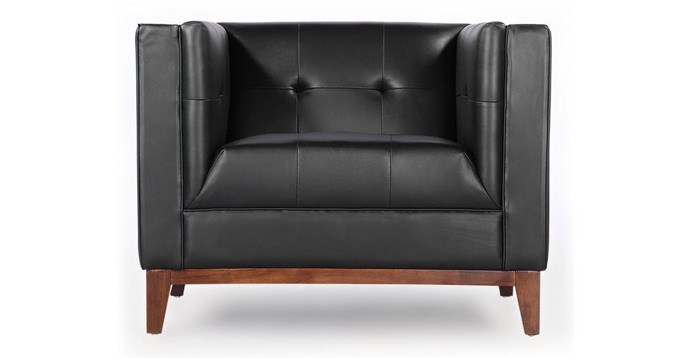 Harrison Chair, Black Premium Leather