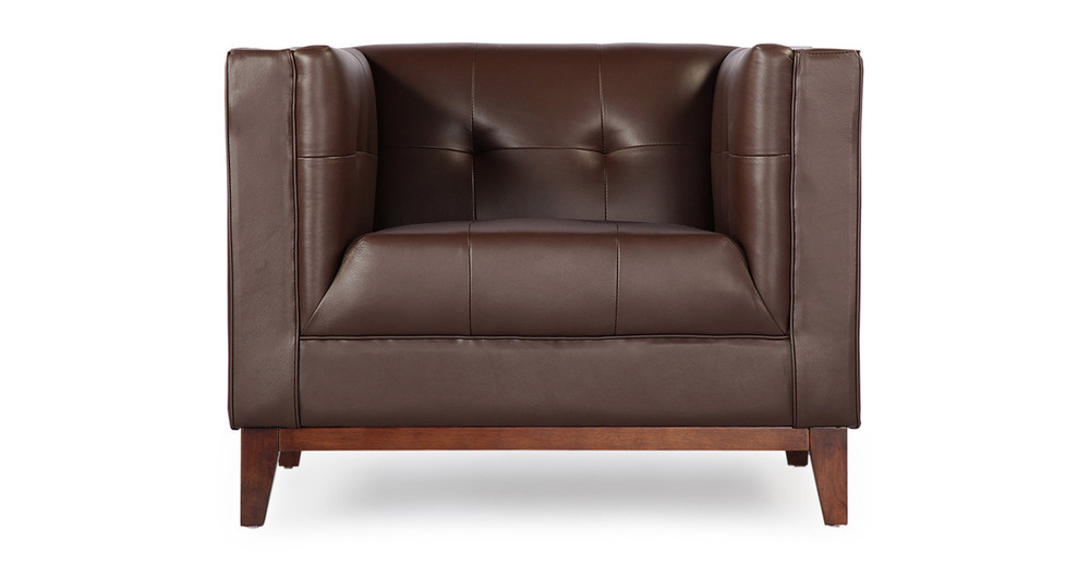 Harrison Chair, Bolivarian Brown Premium Leather