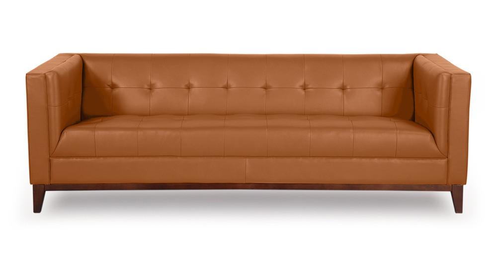 ... Aniline Leather Sofa Mid Century Modern ...