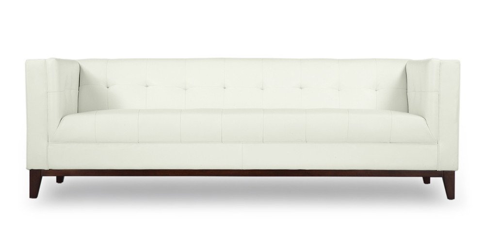 Harrison Sofa, White Premium Leather
