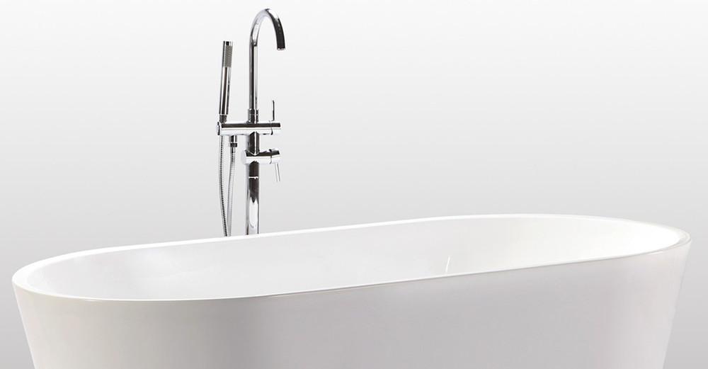 End Drain Freestanding Tub.  kardiel freestanding designer tub Freestanding Helixbath Agora Tubs with Free Giveaway