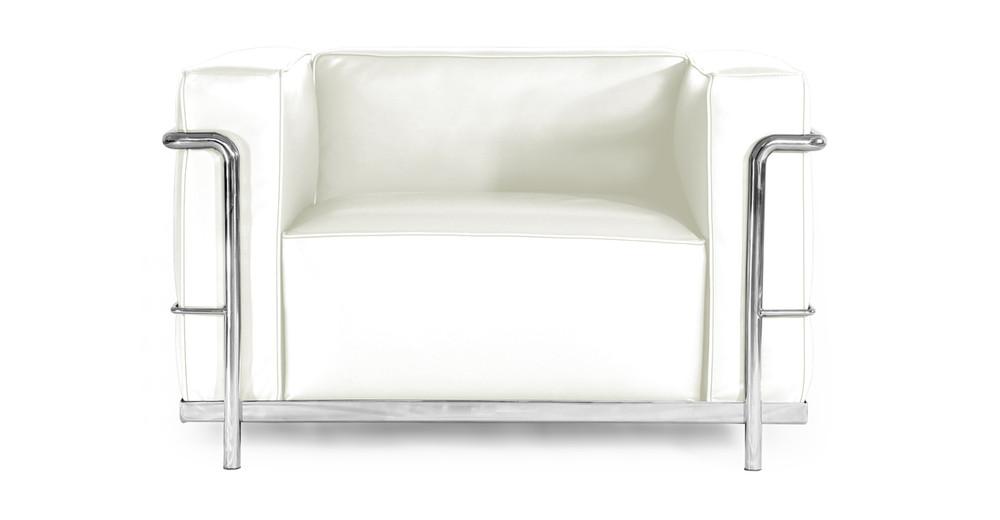 Roche Chair, Cream White Premium Leather