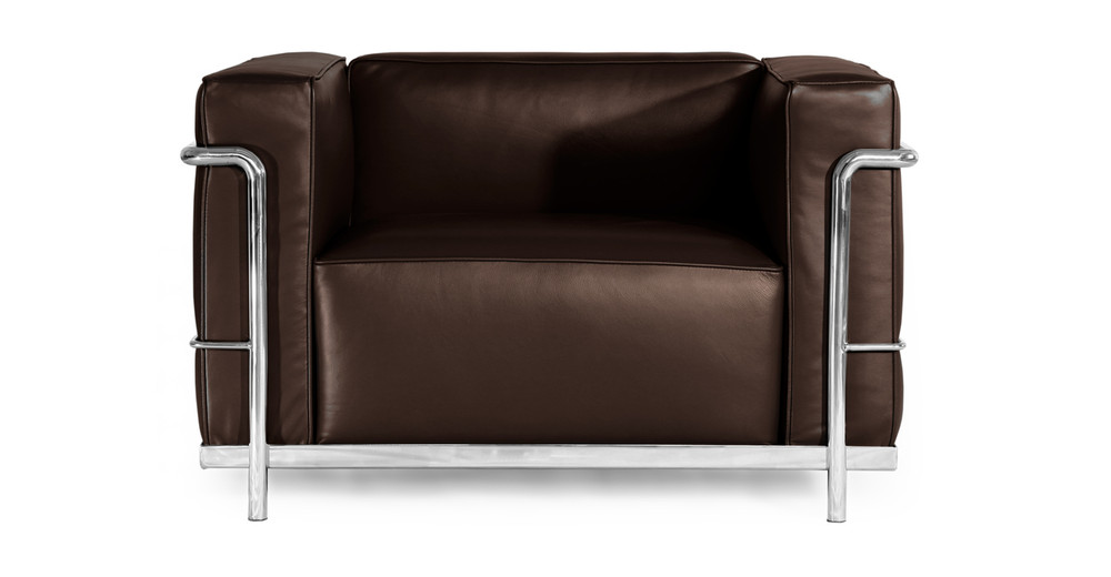 Roche Chair, Choco Brown Premium Leather