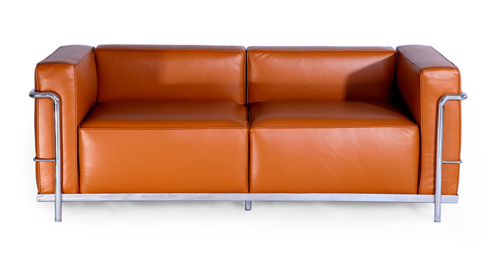 Roche Loveseat, Caramel Premium Leather
