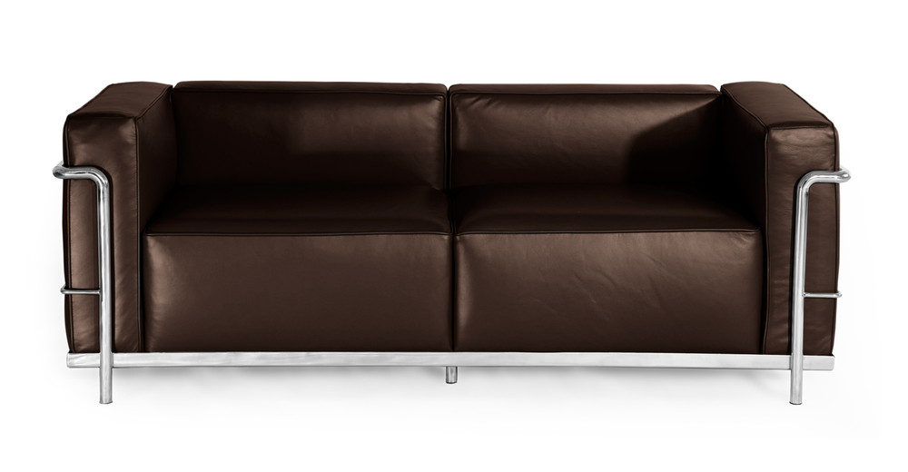 Roche Loveseat, Choco Brown Premium Leather