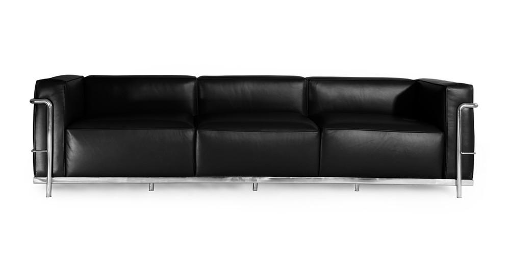 Roche Sofa, Black Premium Leather