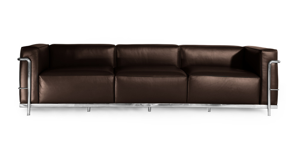 Roche Sofa, Choco Brown Premium Leather