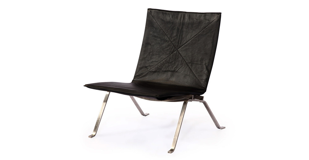 ... PK22 Chair, Black Premium Leather ...