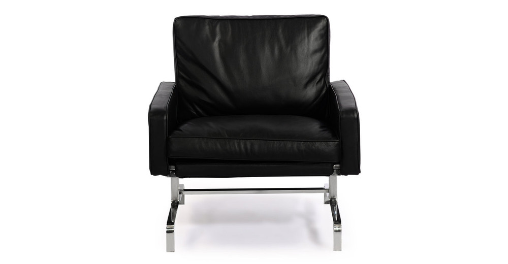 PK31 Chair, Black Premium Leather