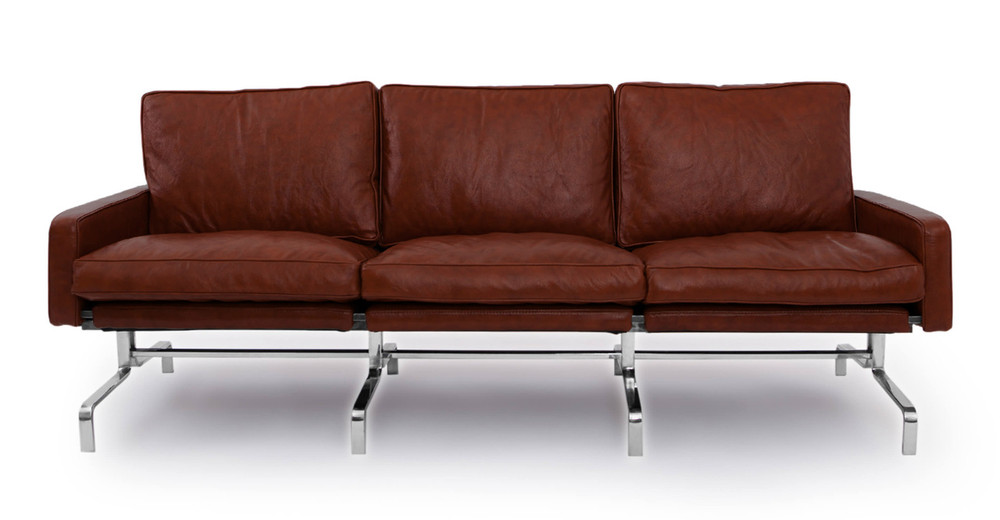 PK31 Sofa, Bordeaux Premium Leather