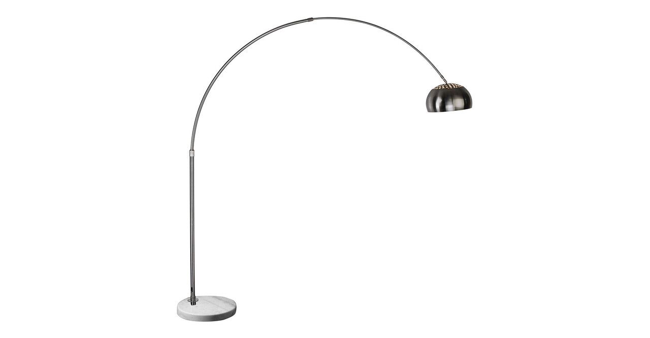 Arco Floor Lamp, White Marble Round
