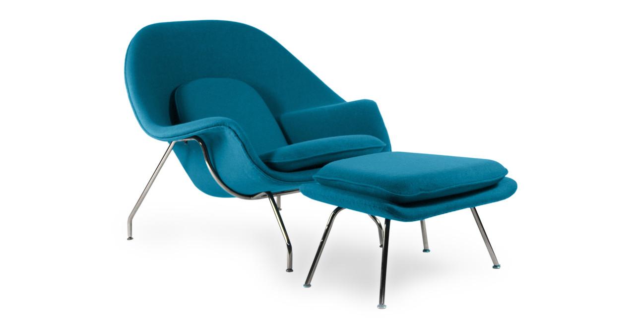 Womb Chair & Ottoman, Caribbean - Kardiel