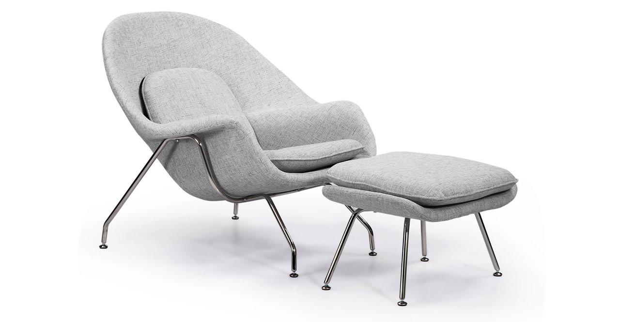 Beau Womb Chair U0026 Ottoman, Dacite