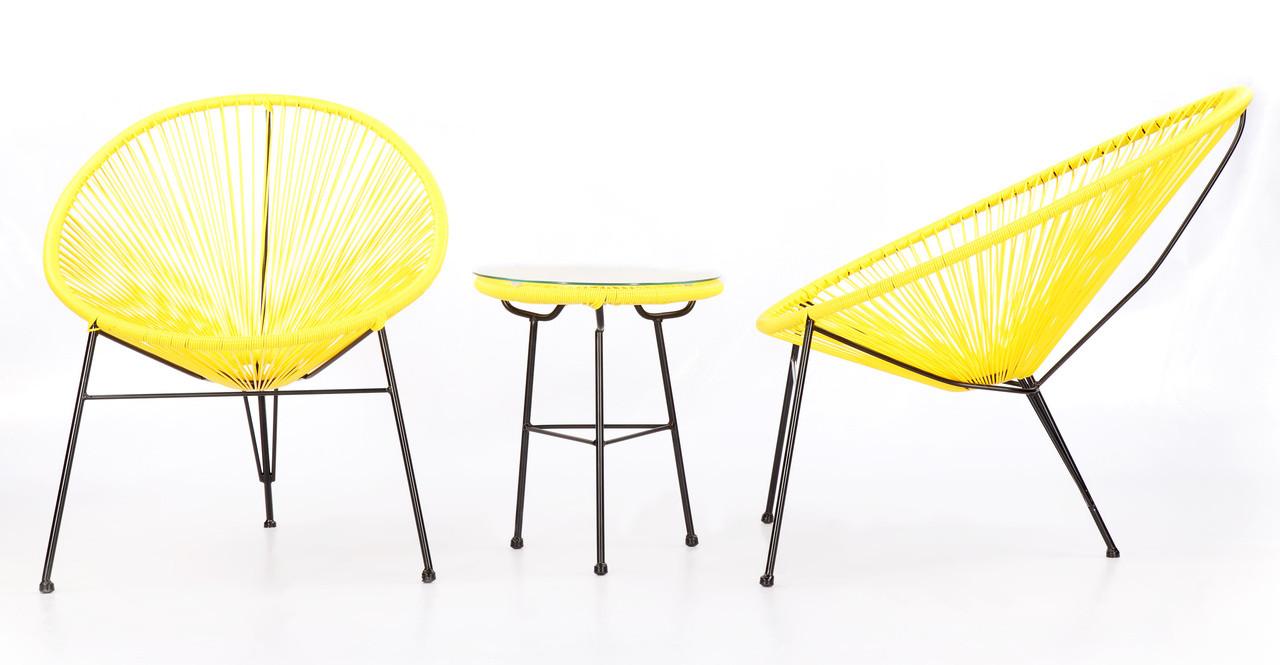 Acapulco Chairs U0026 Table, 3pc Yellow