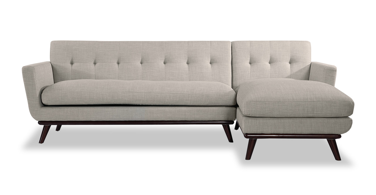 Jackie Sofa Sectional Right, Dove Grey