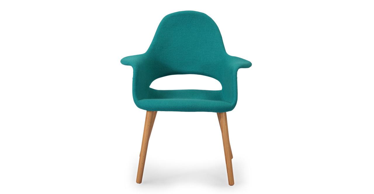 Saarinen Organic Arm Chair Turquoise - Kardiel