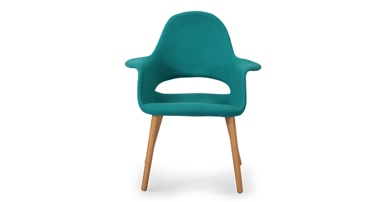 Exceptionnel Saarinen Organic Arm Chair Turquoise