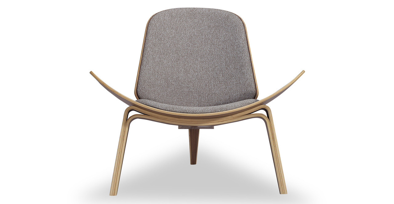 tripod chair urban pebble walnut kardiel