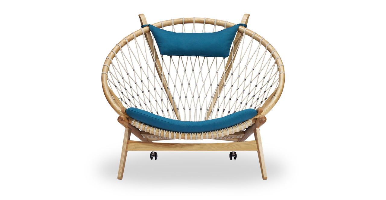 Ordinaire Circle Hoop Chair, Urban Surf/Ash