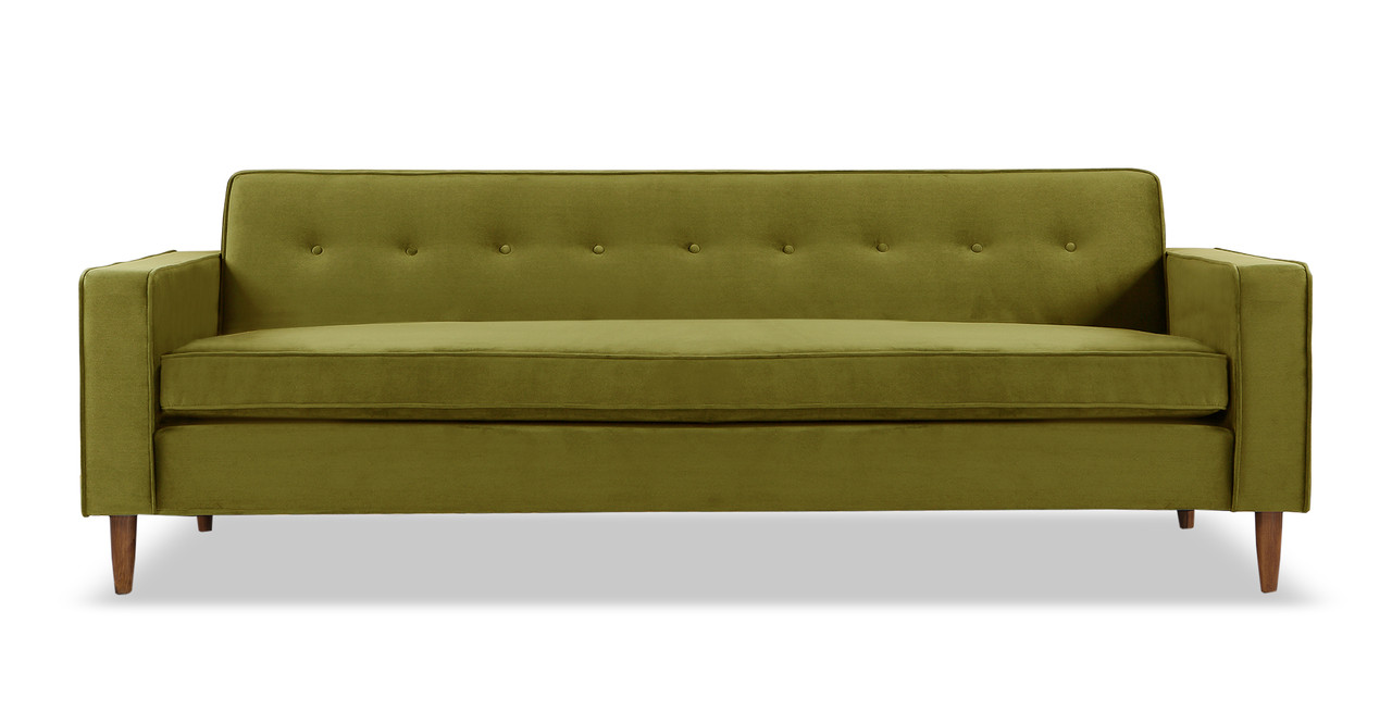 Charmant Eleanor Sofa, Olive Velvet