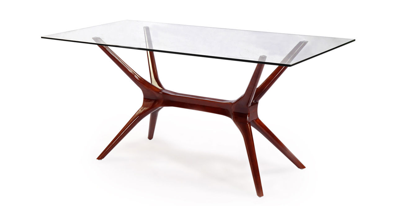 Sputnik Dining Table Walnut Kardiel - Mid mod dining table