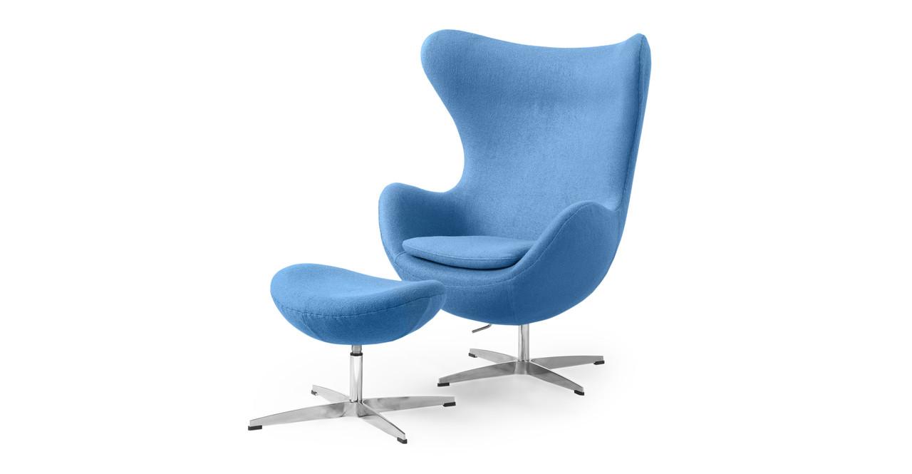 Amoeba Chair U0026 Ottoman, Baby Blue