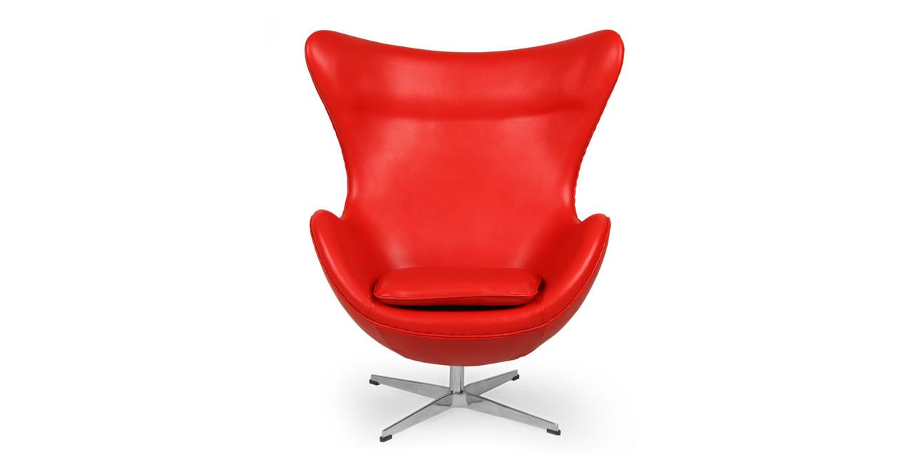 knoll egg chair. Amoeba Chair, Red Premium Leather Knoll Egg Chair